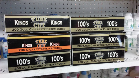 6x Boxes ( Gambler Tube Cut Kings-100s ) Filter Cigarette Tube 200 Tubes Per Box