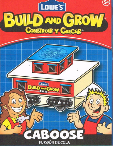 Lowes Build and Grow Caboose Wood Kit