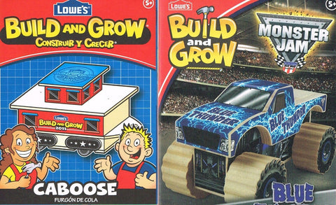 Lowes Build and Grow Lot of 2 Blue Thunder Caboose Wood Kit