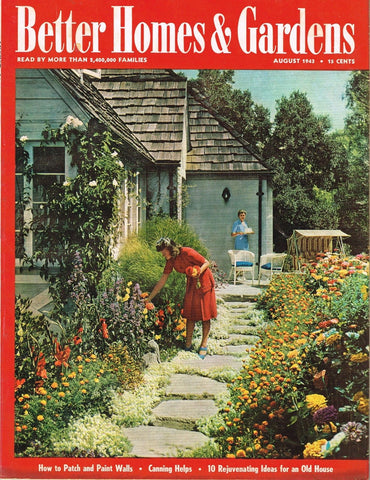 BETTER HOMES AND GARDENS MAGAZINE AUGUST 1943