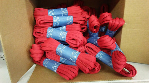 "( Lot of 32 ) 45"" Length Red Oval shoestring shoelaces shoe string laces"
