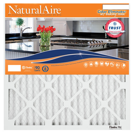 16x16x1 NaturalAire Odor Eliminator Filters with Baking Soda (4 Pack)