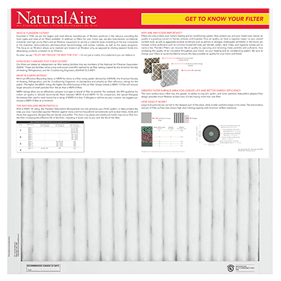 Naturalaire Microparticle MERV 10 Pleated Filter