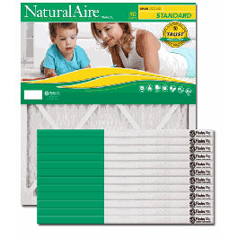 Flanders AAF Pleated Filter 22x22x1 Naturalaire MERV 8 (12 Filters) 84858.012222