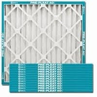 Flanders AAF Pleated Filter Pre Pleat 40 Economy Capacity MERV 7 (12 Filters) 84355.021420