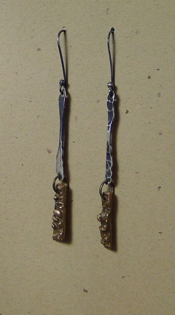 Textured Bronze Earrings