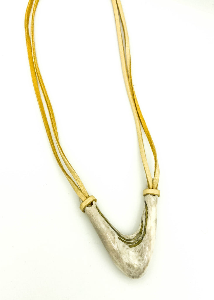 Deer Antler V with Bronze inlay
