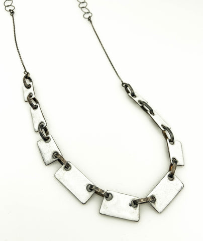 Enamel reversible rectangular links Small
