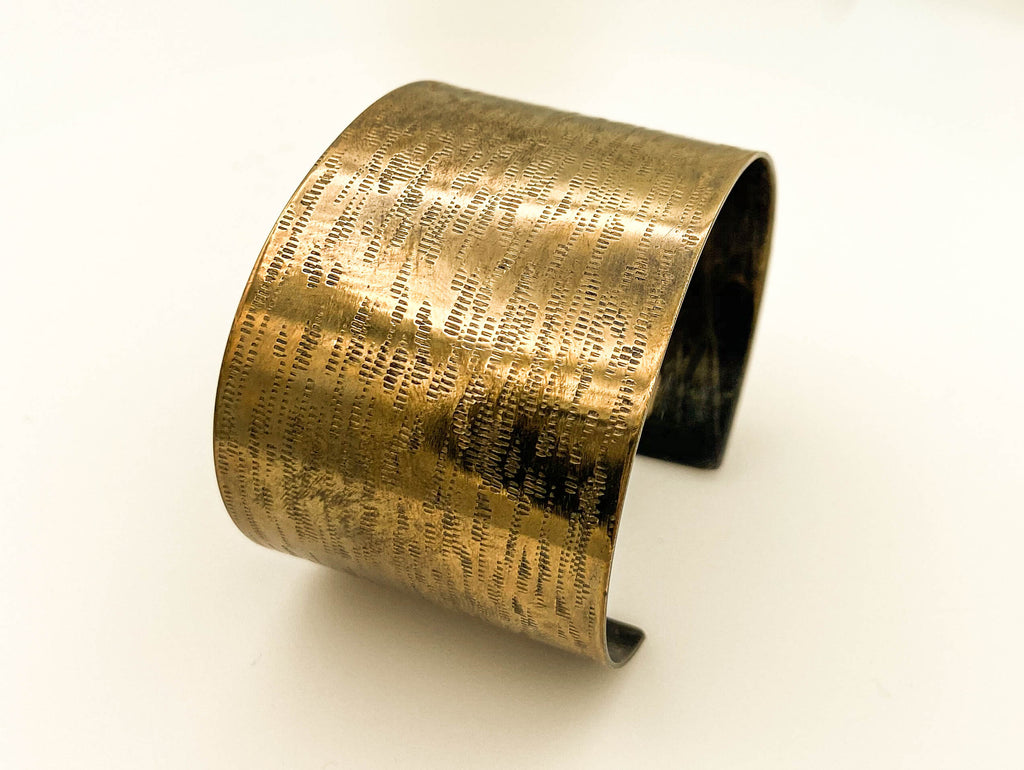 Bronze hammered cuff