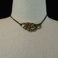 Bronze Prickly Pear Choker Necklace