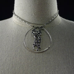 Sterling Silver Prickly Pear pendant in Orb