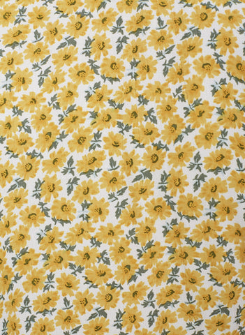 MARGUERITE FLORAL - YELLOW - FIRST LIGHT TOP