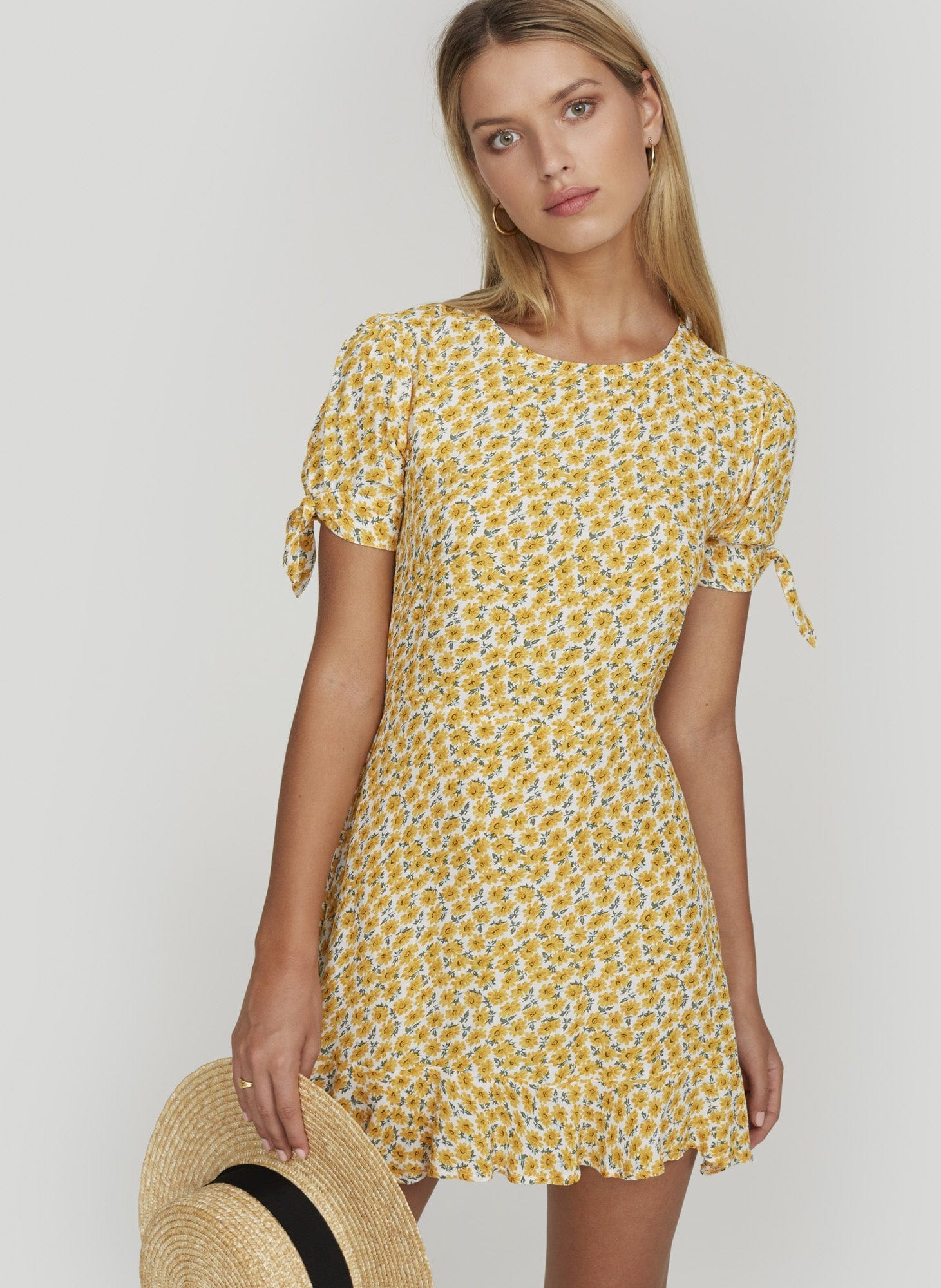 Marguerite Floral - Yellow - Daphne Dress - Final Sale