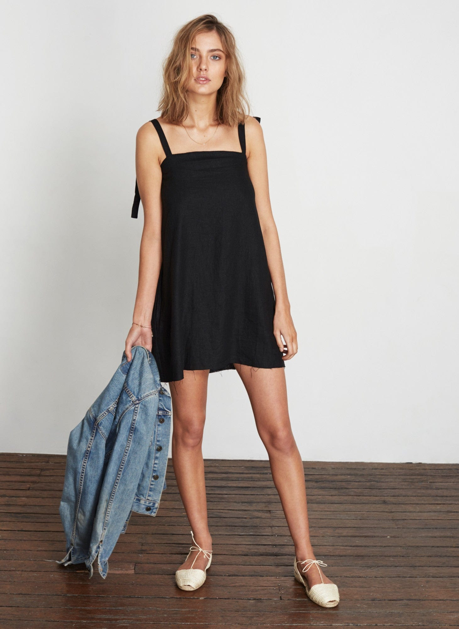 PLAIN BLACK - SAN BLAS DRESS