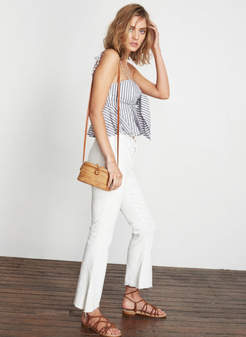 BRIGHTON STRIPE - GREY - PINA COLADA TOP