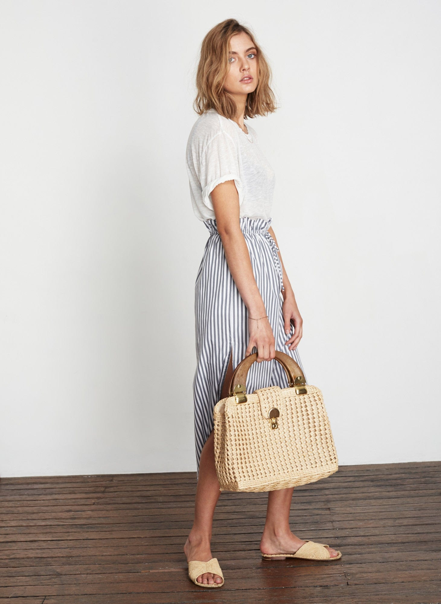 BRIGHTON STRIPE - GREY - THASSIA SKIRT