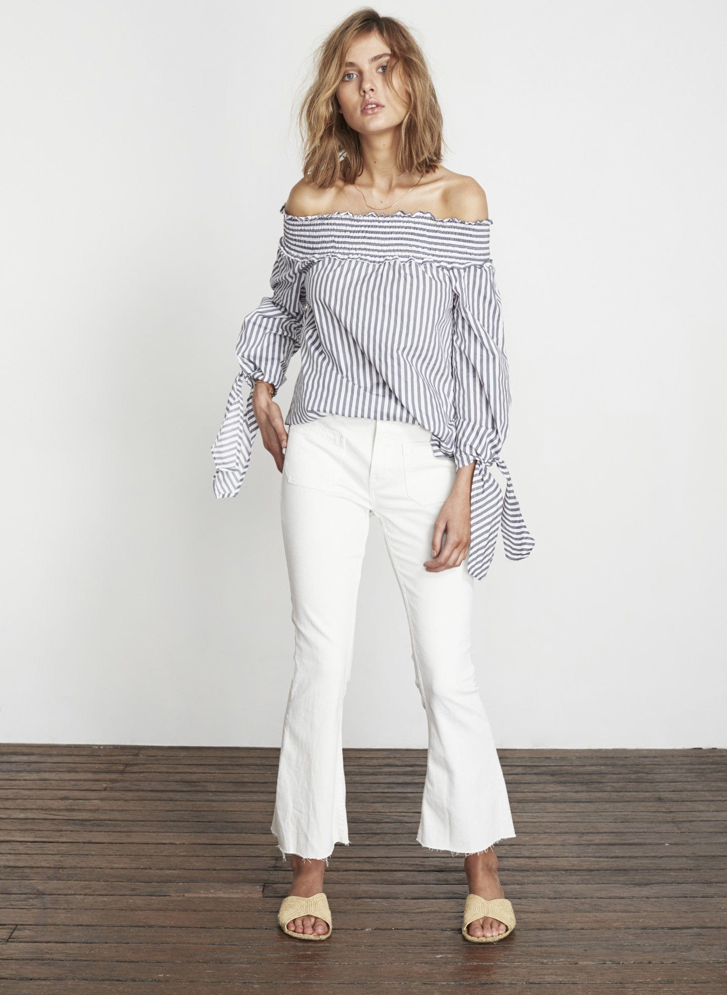 BRIGHTON STRIPE - GREY - CENTRAL PARK TOP