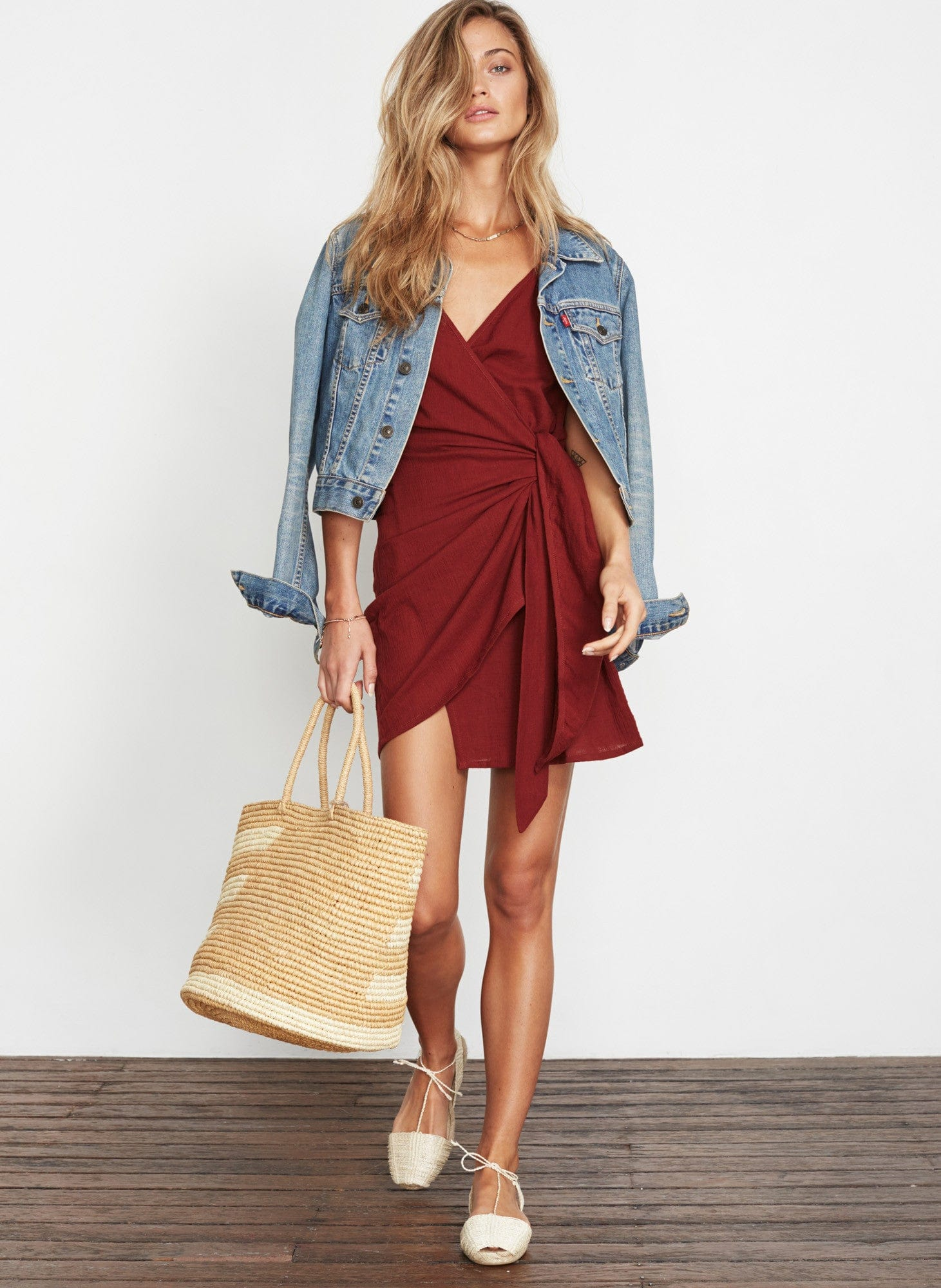 PLAIN AMBER - KARA WRAP DRESS