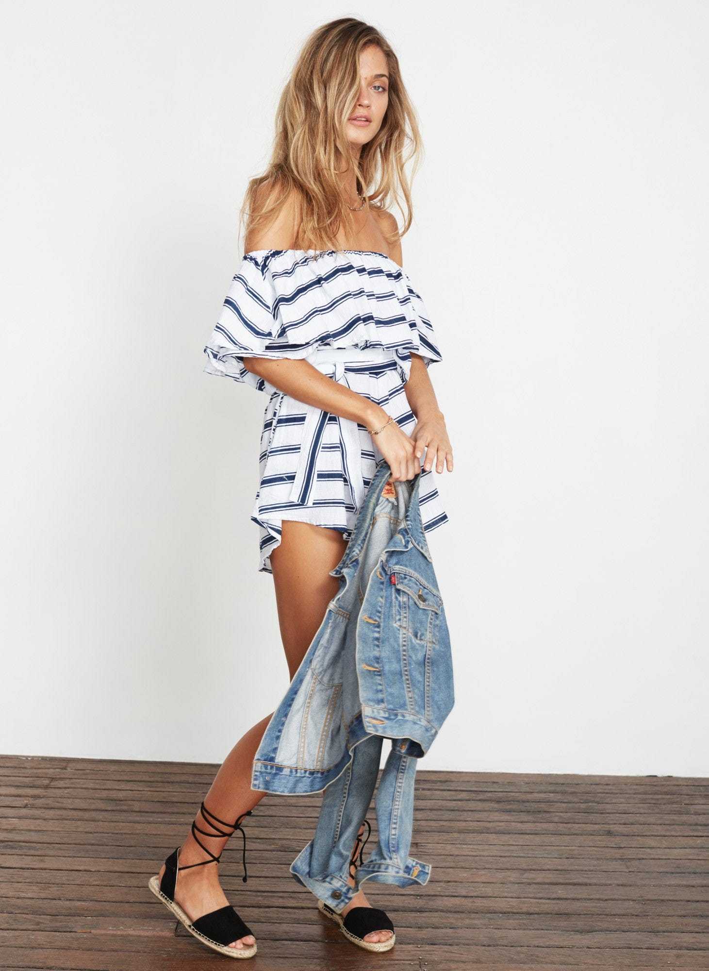 WAVES STRIPE PRINT - LANE PLAYSUIT