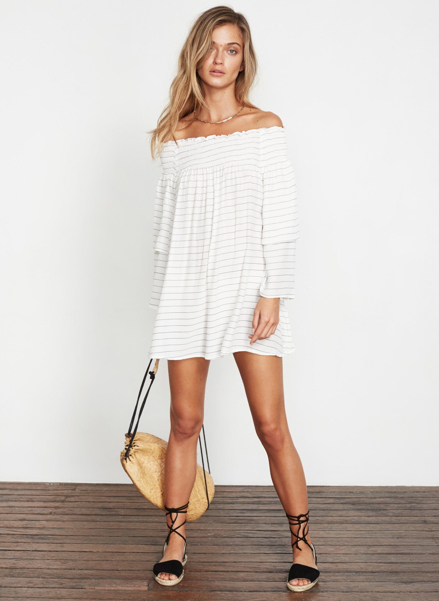 LUCA STRIPE PRINT - SPANISH SAHARA DRESS