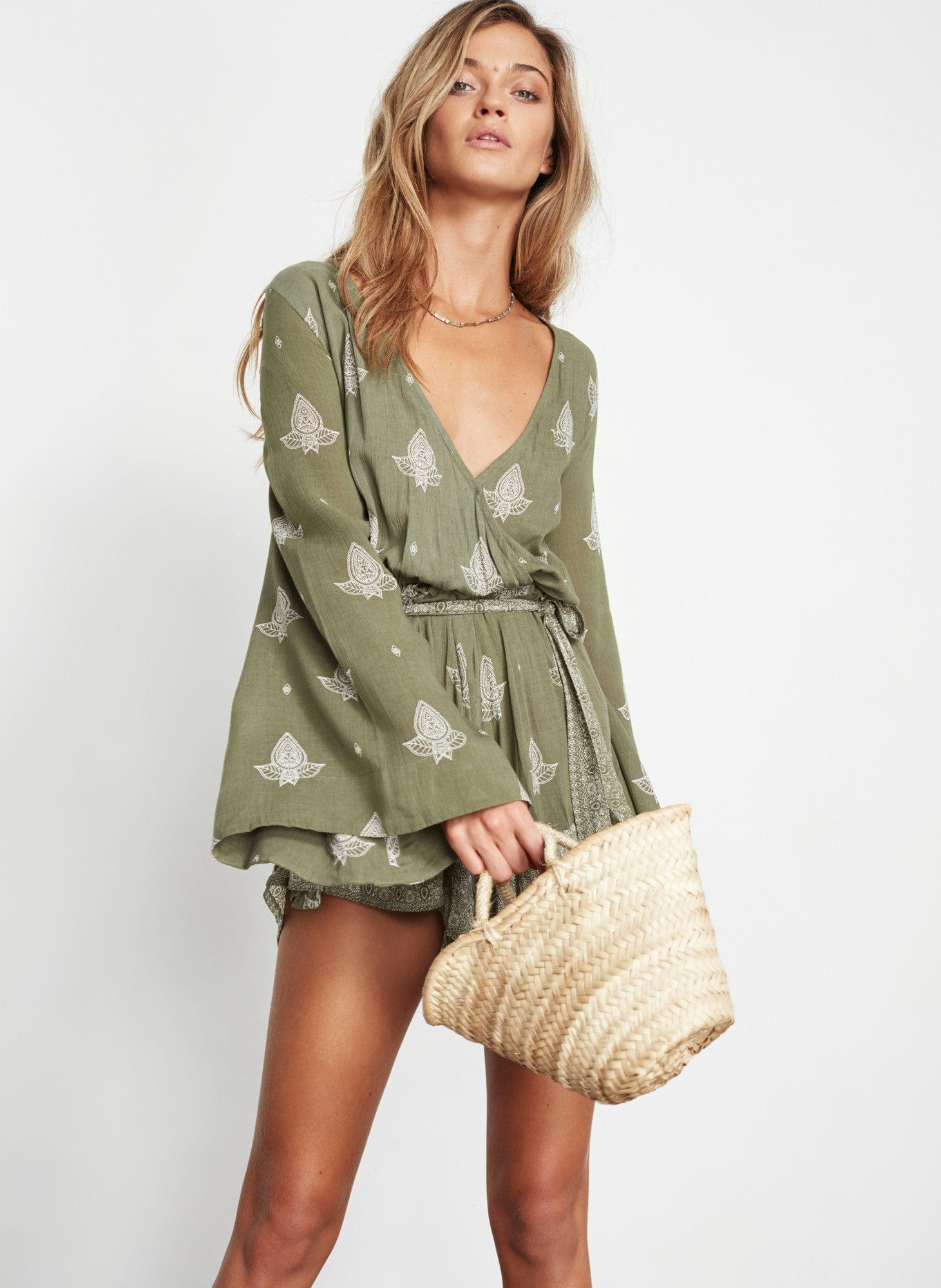 LA LOMA PRINT - KHAKI - LONG BAY PLAYSUIT