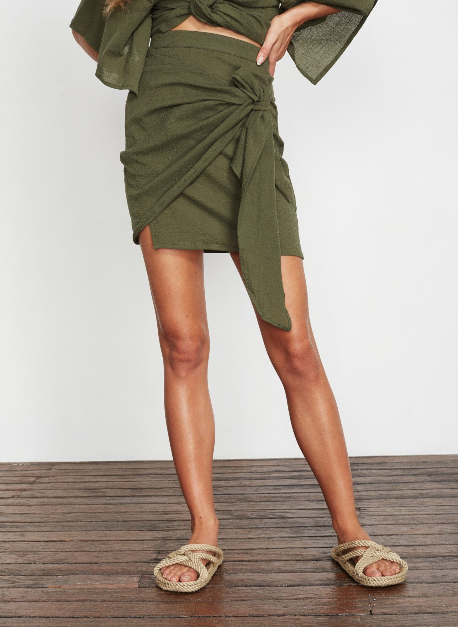 PLAIN KHAKI - ACADIA SKIRT