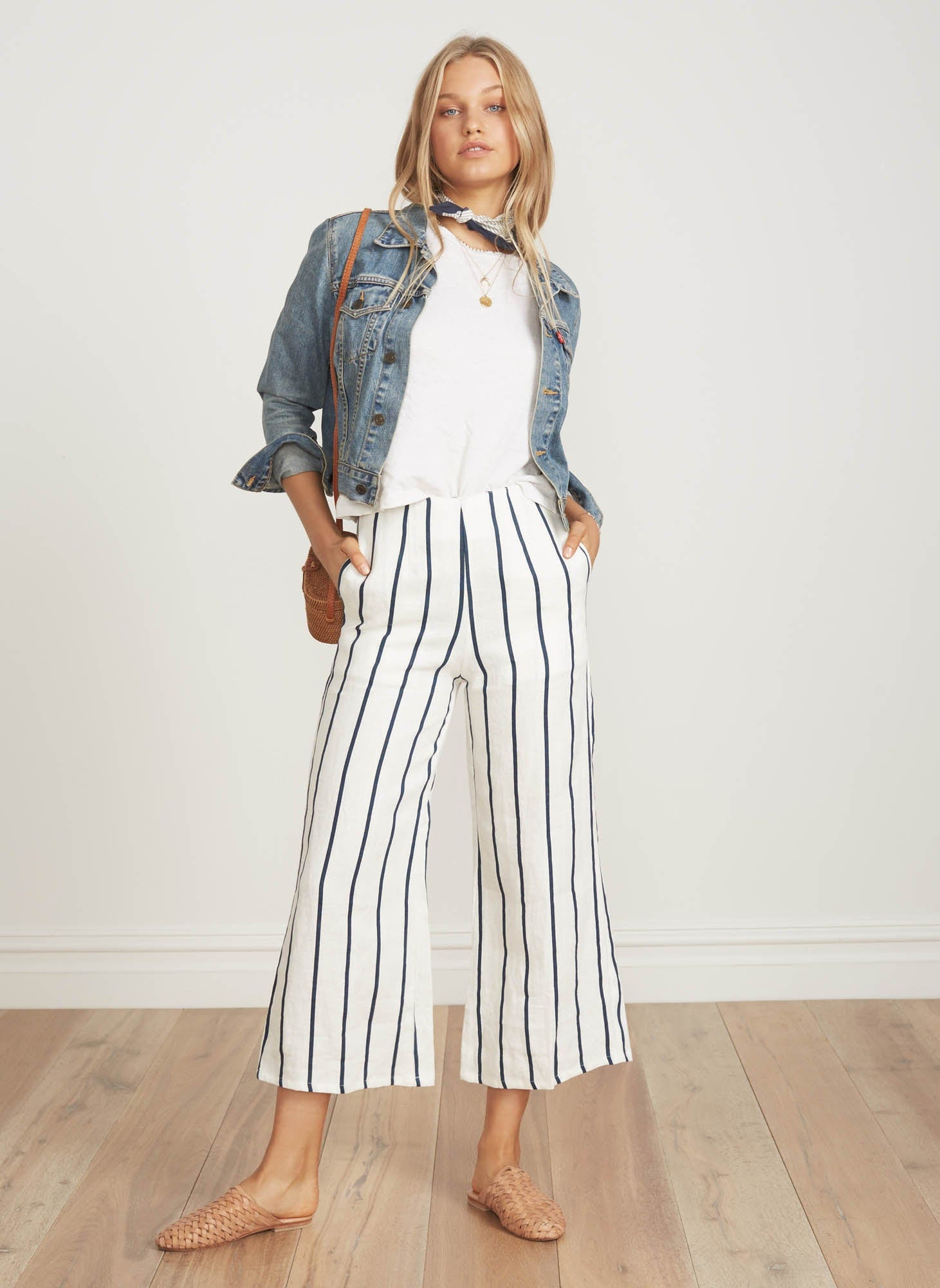 THOMSON STRIPE PRINT - NAVY - TOMAS PANTS