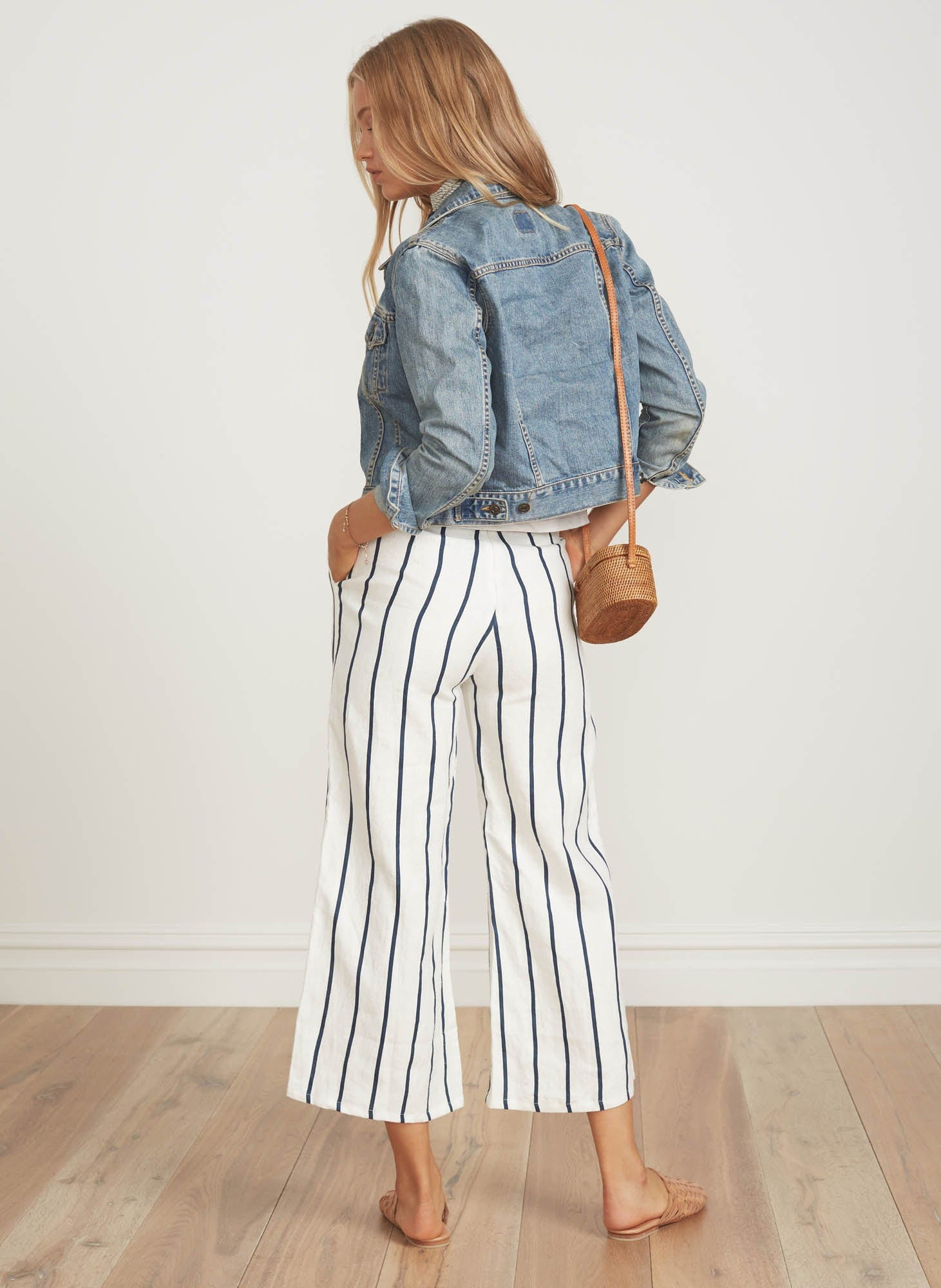 THOMSON STRIPE PRINT - NAVY - TOMAS PANTS - FINAL SALE