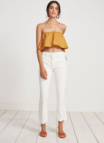 PLAIN MARIGOLD - MALA TOP
