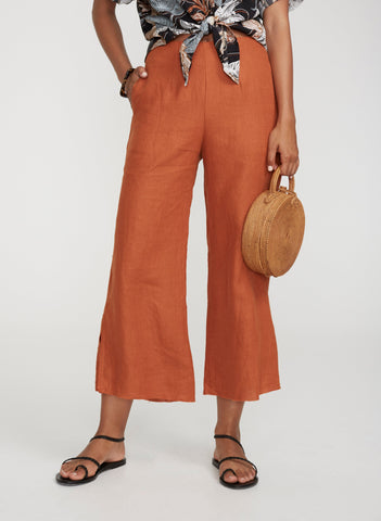 PLAIN TERRACOTTA - CARMEN PANTS - FINAL SALE