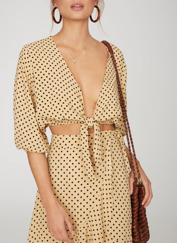 LULA DOT PRINT - LA GUARDIA TOP - FINAL SALE