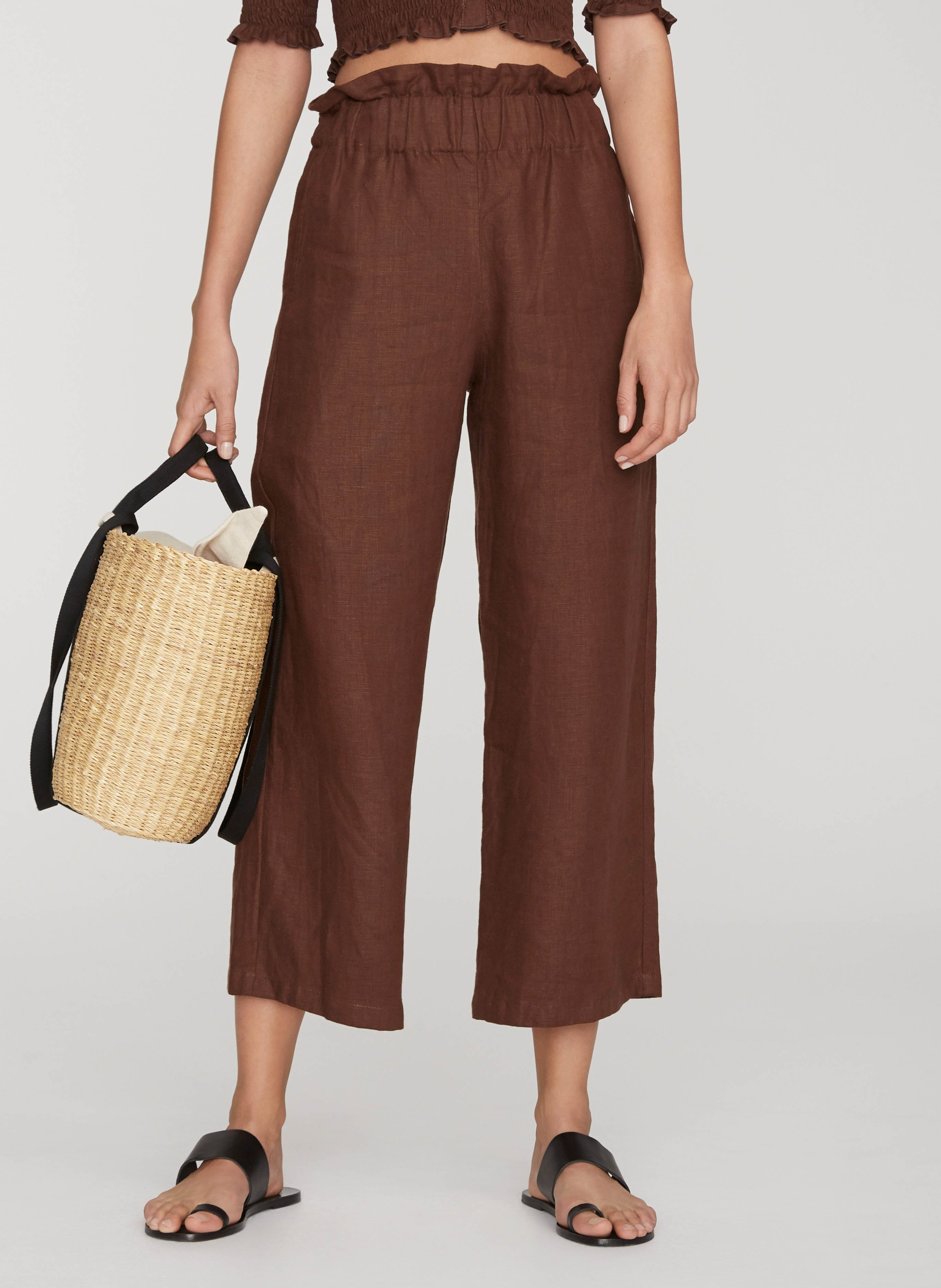 PLAIN ESPRESSO - VARADERO PANTS - FINAL SALE