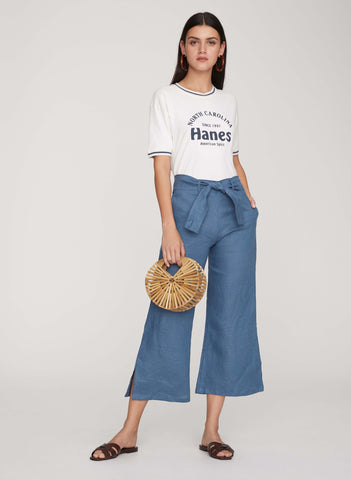 PLAIN WASHED BLUE - ROZA PANTS