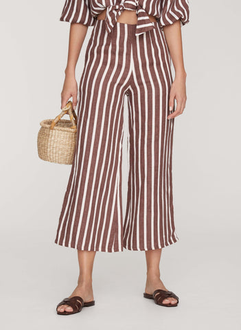 MAZUR STRIPE PRINT - GRAPE - CARMEN PANTS
