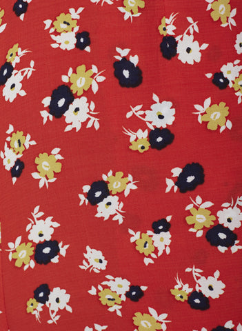 JASMINE FLORAL PRINT - RED - FIRST LIGHT TOP