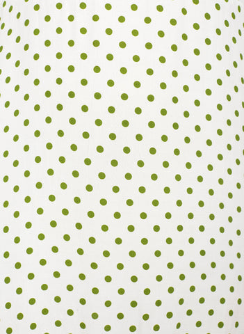 LULA DOT PRINT - GREEN - RACQUEL SKIRT