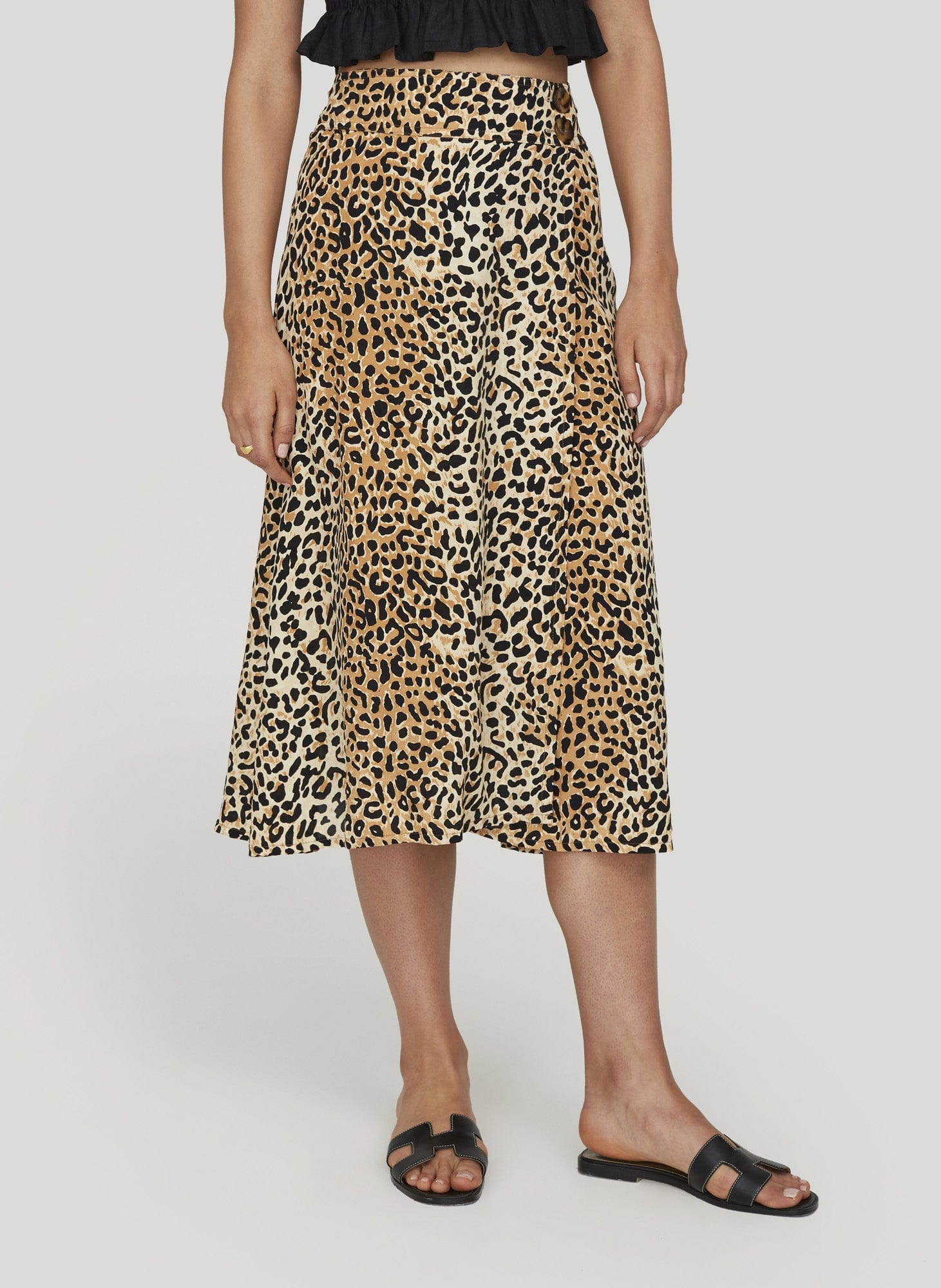 LE CINQ ANIMAL PRINT - VALOIS MIDI SKIRT