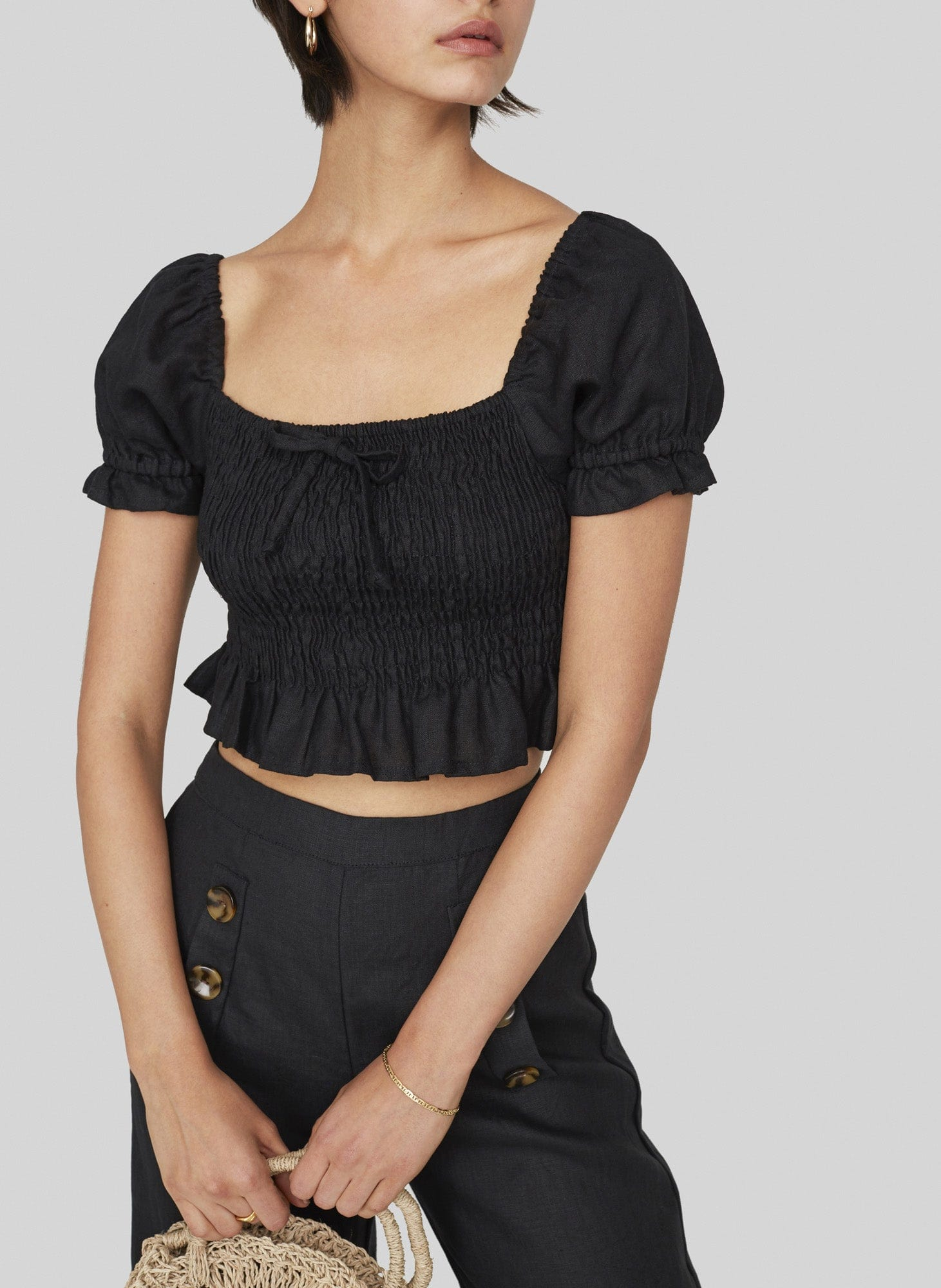 PLAIN BLACK - MARIE TOP