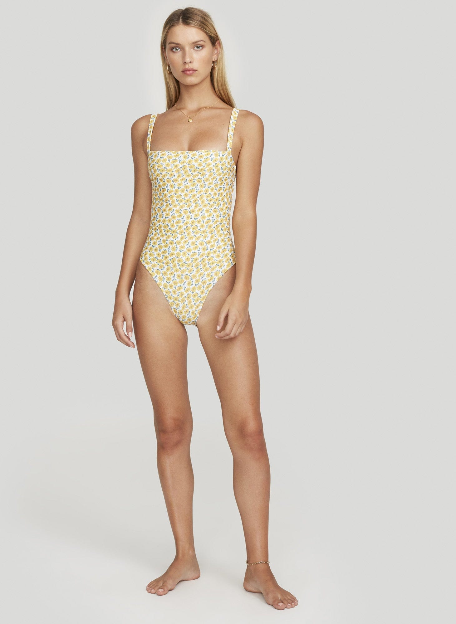 MARGUERITE FLORAL PRINT - YELLOW - PHOEBE ONE PIECE