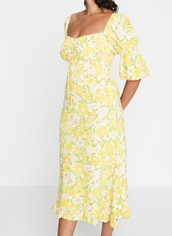 Nora Midi Dress Jolene Floral
