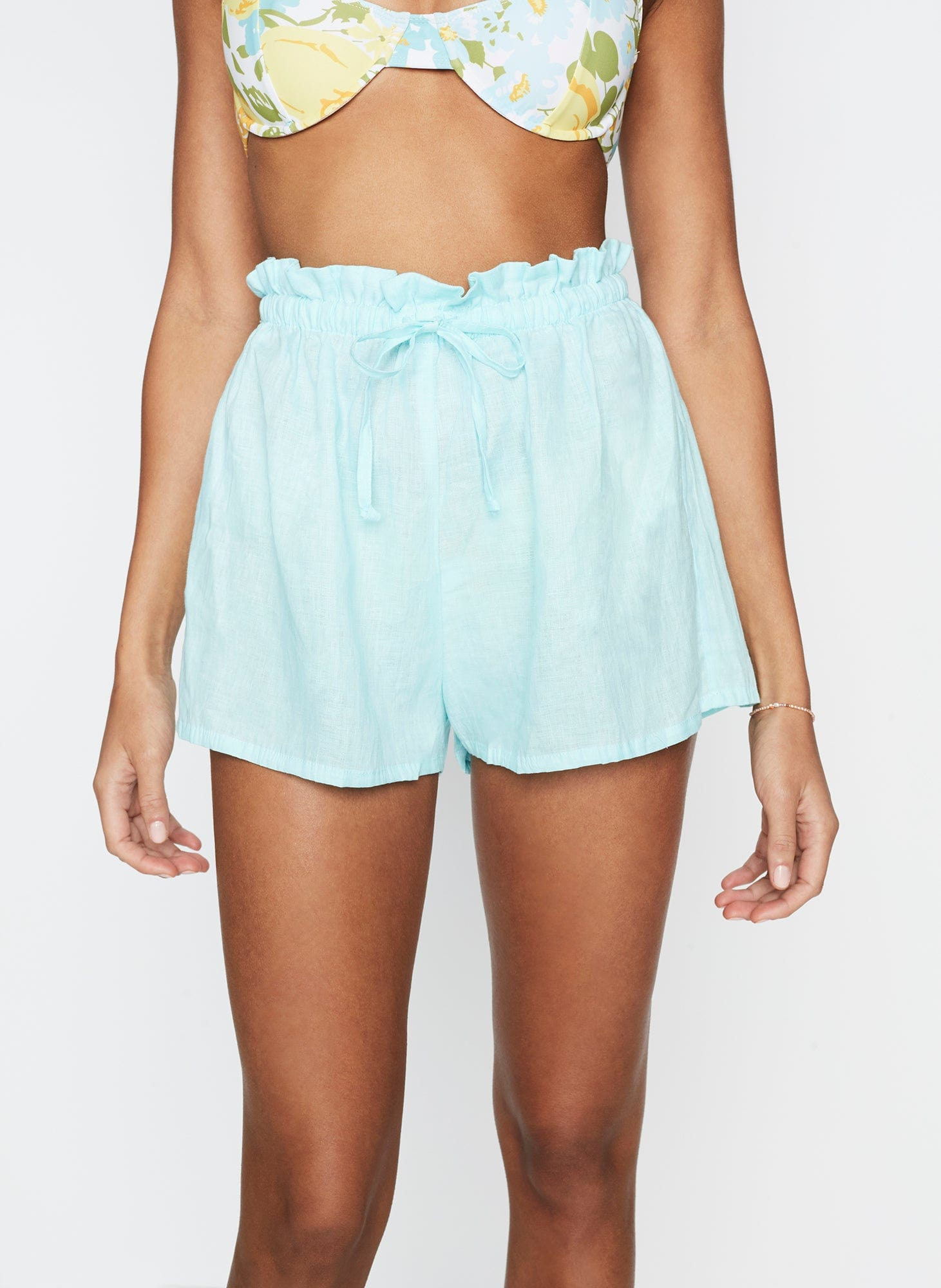 Anja Shorts Plain Aqua -Final Sale