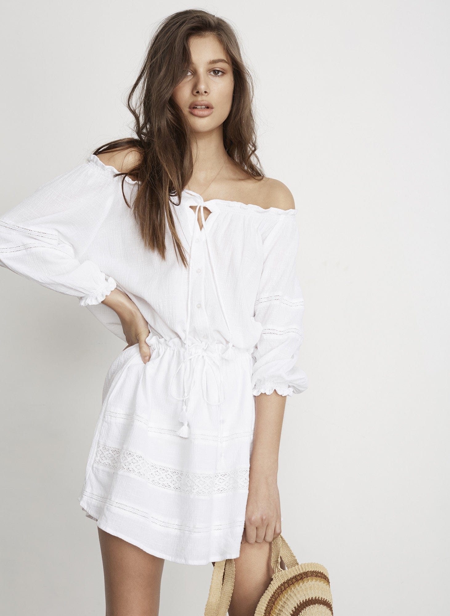 PLAIN WHITE - ALACATI DRESS - FINAL SALE