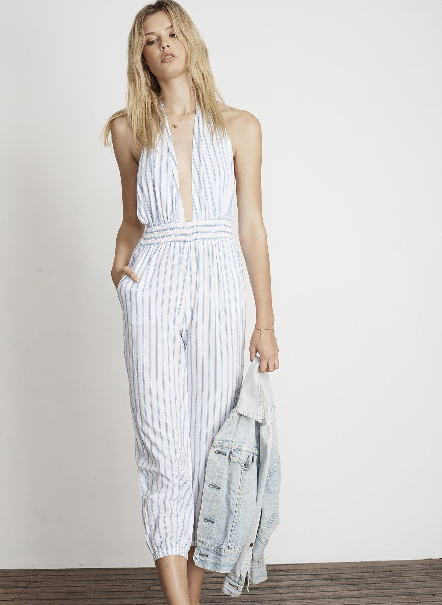 PALLAIS STRIPE PRINT - BARBUDA JUMPSUIT - FINAL SALE