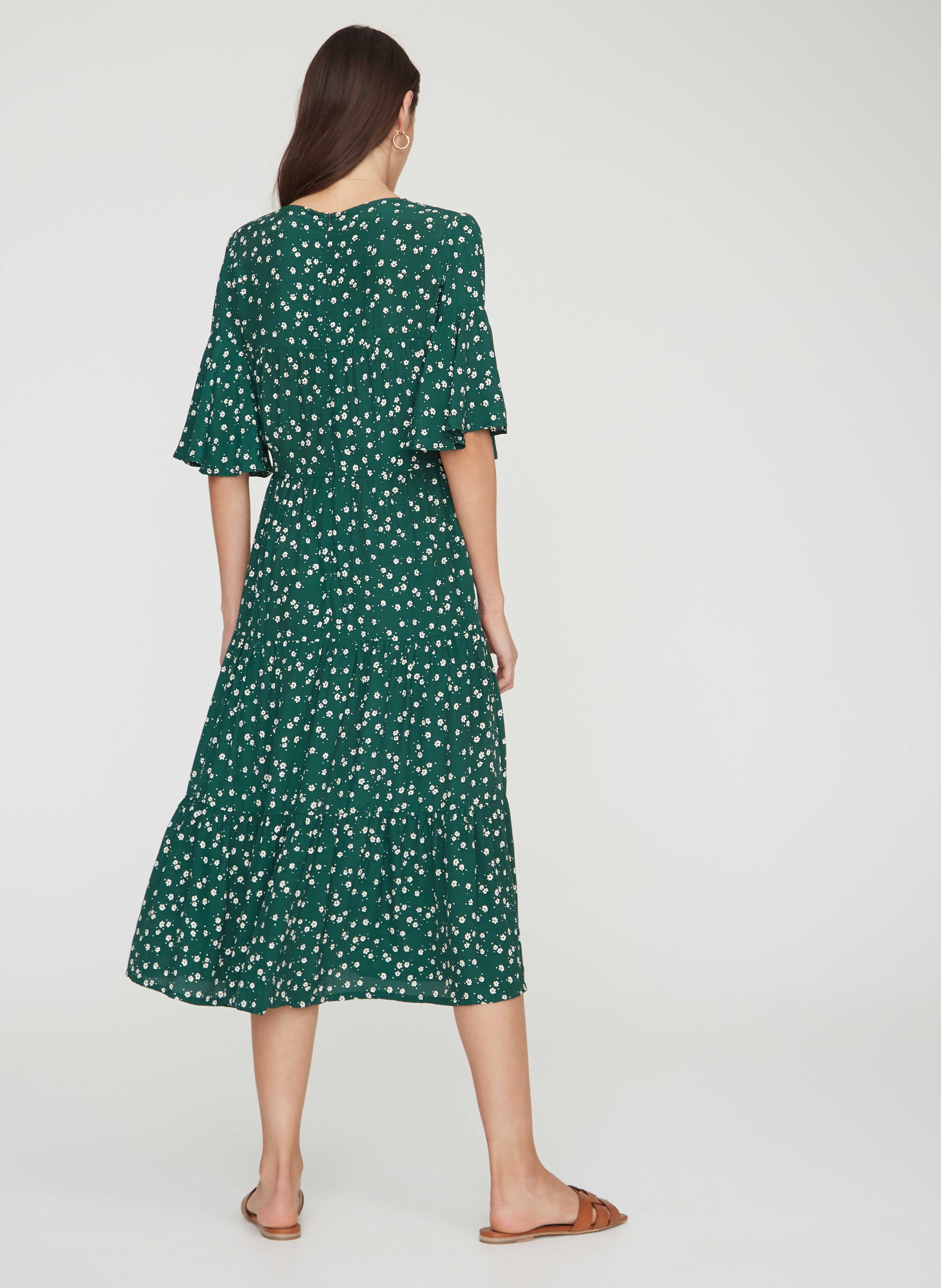 BETINA FLORAL PRINT - GREEN - MELIA MIDI DRESS - FINAL SALE