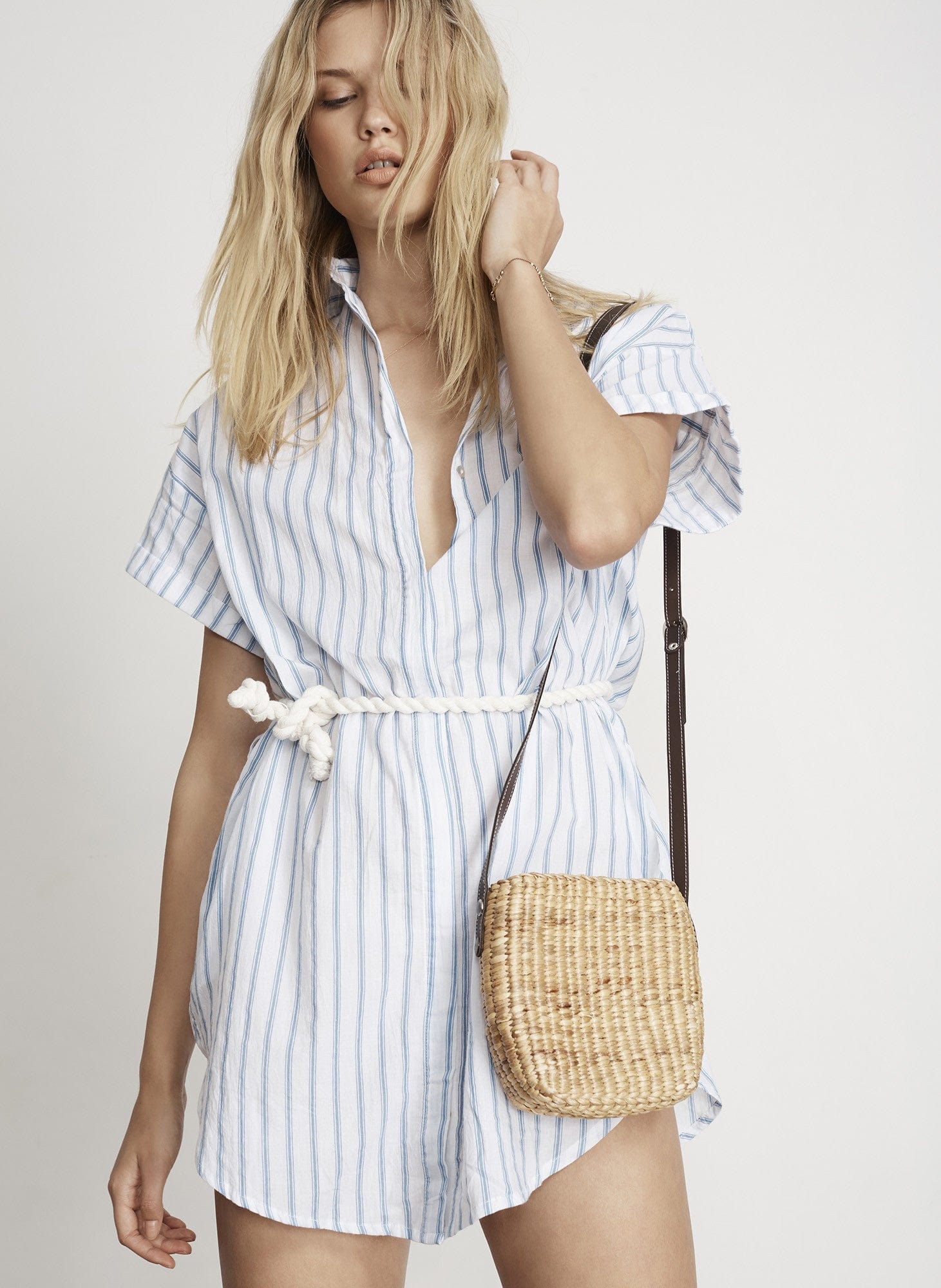 PALLAIS STRIPE PRINT - AVALON SHIRT DRESS - FINAL SALE