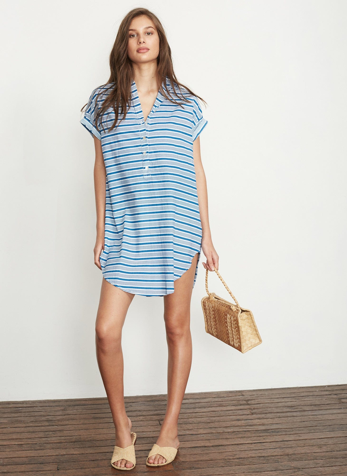 PUGLIA STRIPE PRINT - AARON SHIRT DRESS