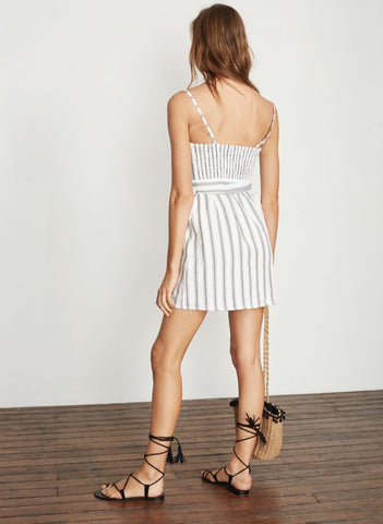 SANDWASH STRIPE PRINT - GREY - BESO DRESS