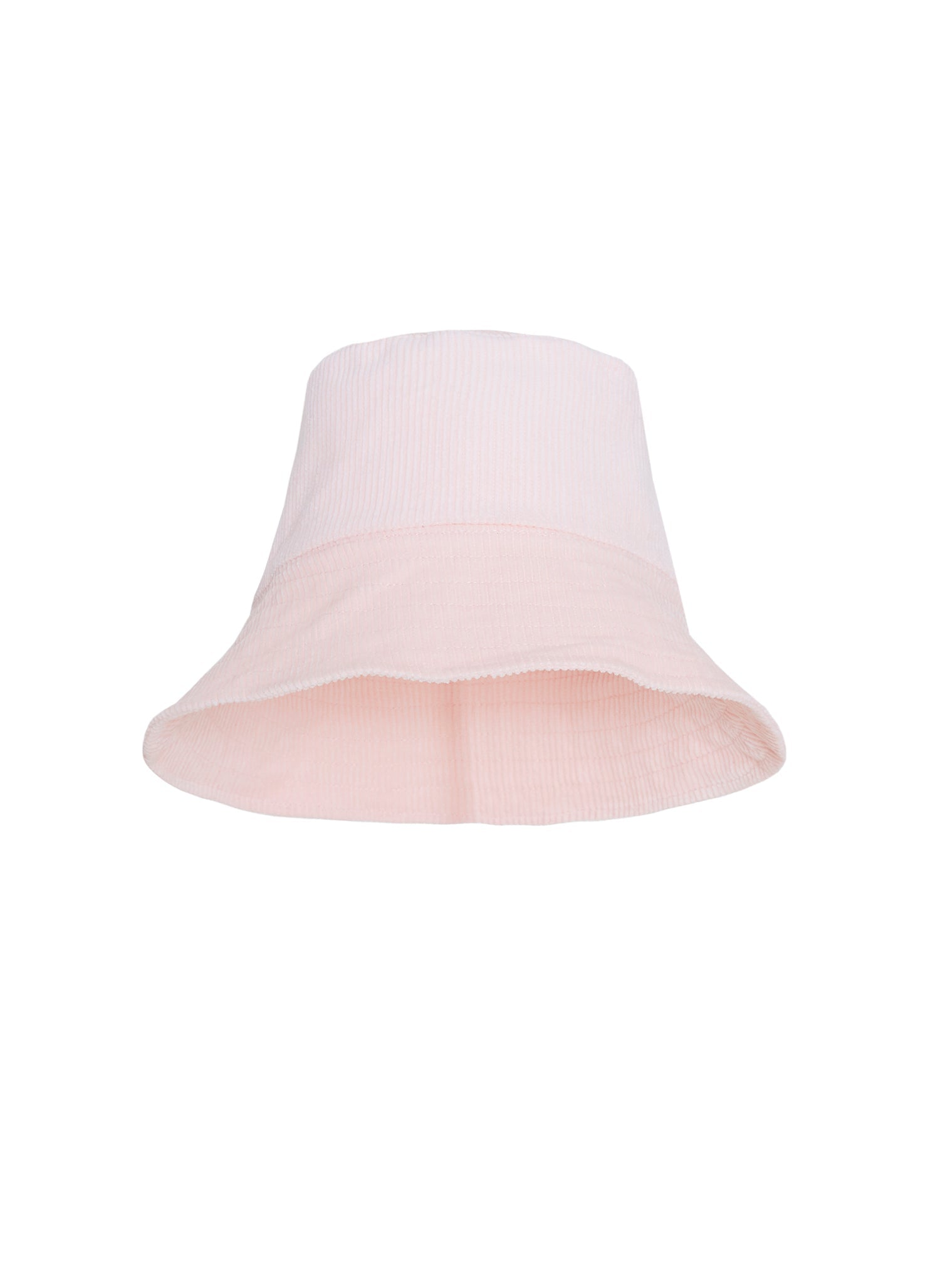 Corduroy Bucket Hat Plain Pale Pink