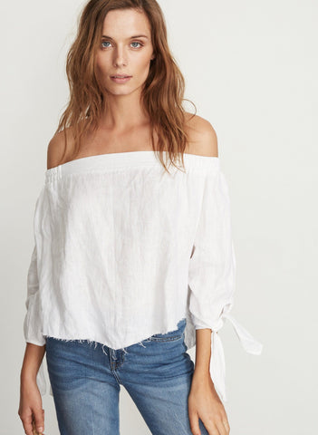 PLAIN WHITE LINEN - CARTAGENA TOP