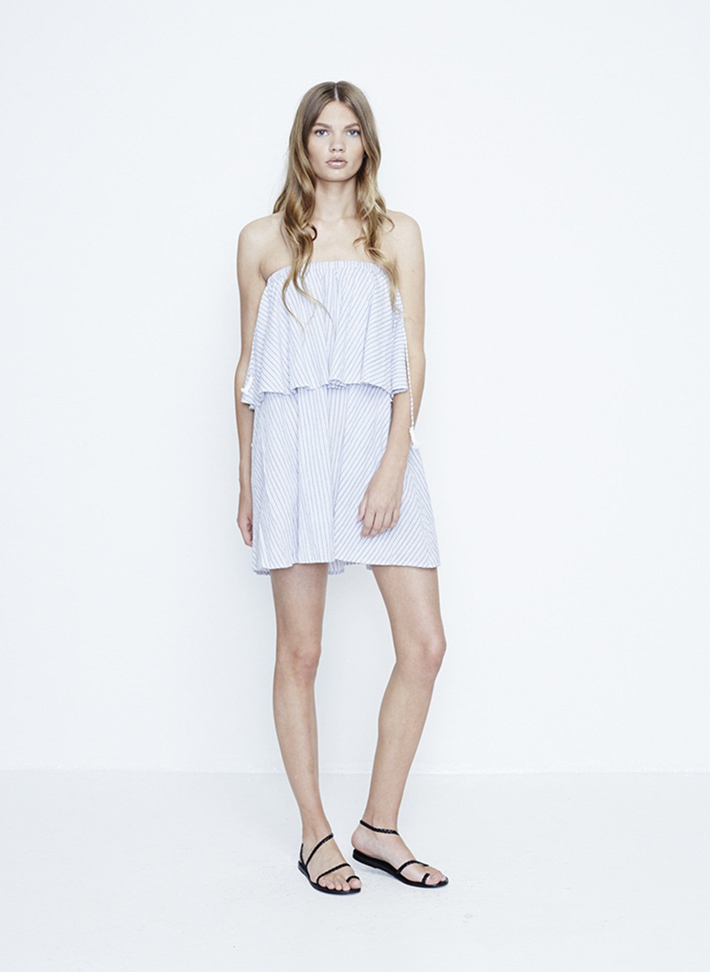 OCEANSIDE STRIPE PRINT - MADRID DRESS - FINAL SALE